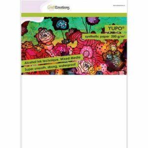 CraftEmotions Synthetisch Papier - Yupo Wit / 10 vellen / A4/ 200gr