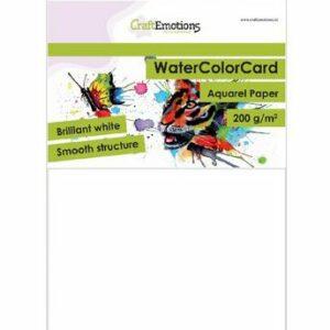 CE WaterColor Card - Briljant Wit - 200gr-A5-001286/3320