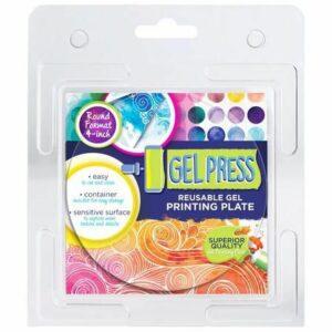 Gel Press Printing Plate - 10,2cm Cirkel 10806-4