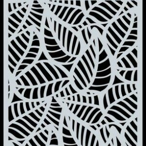 CraftEmotions Mask stencil achtergrond Skelet bladeren