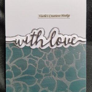 Tonic Studios Snijmal Handletter Sentiments - With Love 2352e