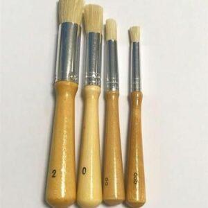 Stencil Tamponeer penselen 4 stuks/ formaten