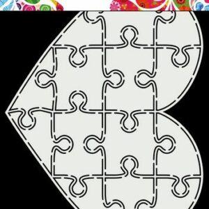 Dutch Doobadoo Card Art A5 Puzzel Hart 470.713.847
