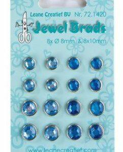 LeCrea - Jewel brads donker- & lichtblauw 72.1420