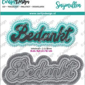 CarlijnDesign Snijmallen Grote Teksten 1 Bedankt (CDSN-0047)