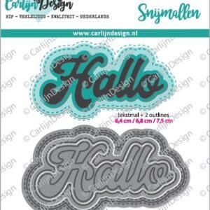 CarlijnDesign Snijmallen Grote Teksten 1 Hallo (CDSN-0048)