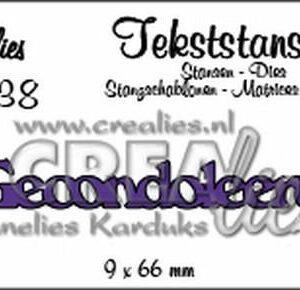 Crealies Tekstmal - Gecondoleerd CLTS38