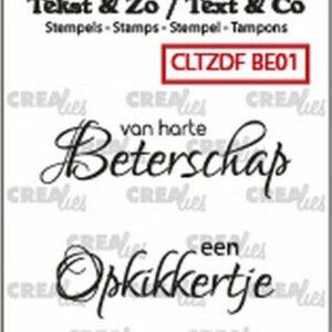 Crealies Clearstamp Tekst & Zo Font Beterschap no. 1 CLTZDFBE01