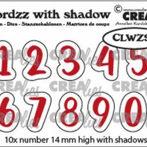 Crealies Wordzz Snijmallen met schaduw - Cijfers CLWZ99