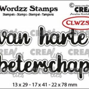 Crealies Clearstamp Wordzz van Harte beterschap CLWZS03