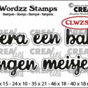 Crealies Clearstamp Wordzz Hoera een Baby CLWZS06
