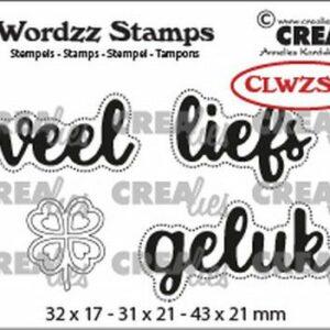 Crealies Clearstamp Wordzz Veel Liefs CLWZS08