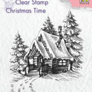 Nellie's Choice Clearstempel - Sneeuwhuis 2 CT022