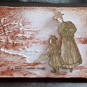 Nellies Choice clearstamp - Idyllic Floral - Vintage winter IFS024