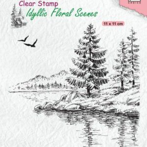 Nellies Choice clearstamp - Idyllic Floral - Winter waterkant IFS025