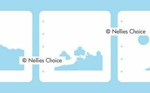 Nellie's Choice Layered combi stencil set Natuur 2 LCSL002
