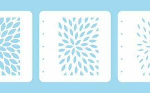 Nellie's Choice Layered combi stencil set (set of 3) Zonnestralen LCSS001