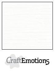 CraftEmotions linnenkarton 10 vel wit LHC-02 /A4/ 250gr