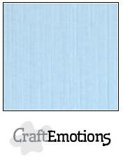 CraftEmotions linnenkarton 10 vel azuurblauw LHC-14 /A4/ 250gr