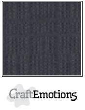 CraftEmotions 10x A4 Linnen karton Anthraciet LHC-72/250gr