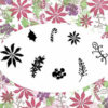 Majestix Clear Stamps Poinsettias and Peppermints MAPO-01