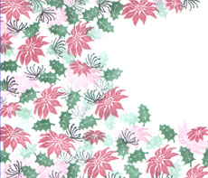 Majestix Clear Stamps Pretty Poinsettias MAPR-01