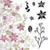 Majestix Clear Stempels Tattered Poinsettia