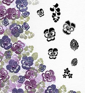 Majestix Clear Stempels Viola View MAVI-02