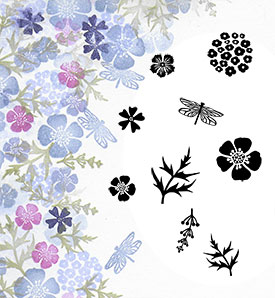 Majestix Clear Stamps Wild Flowers MAWI-05