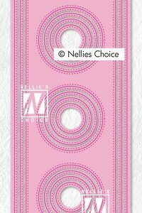 Nellie's Choice Multi Frame Die - Slimline cirkel MFD139