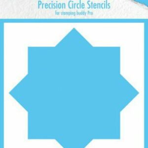 Nellie's Choice Precision Stencils 8-punts Cirkel MMPCS001