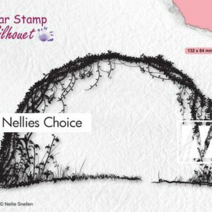 Nellies Choice Clearstempel - Silhouette Bloemenboog SIL080