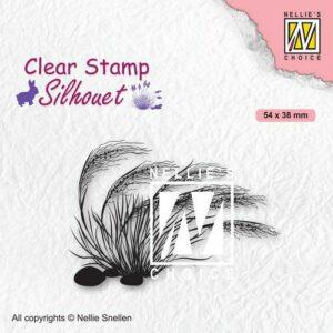 Nellies Choice Clearstempel - Silhouette Bloeiend Gras - 3 SIL084