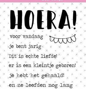 Studio Light Clear Stamp Tekst (NL) Hoera Essentials nr.523 STAMPSL523