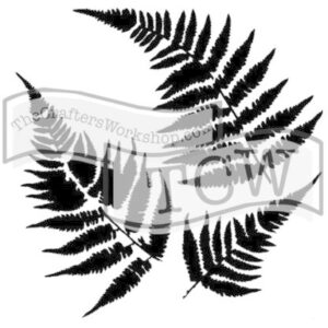 The Crafter's Workshop Ferns 6x6 Inch Stencil (TCW243s)