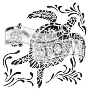 The Crafter's Workshop Sea Turtles Stencil (TCW610s)