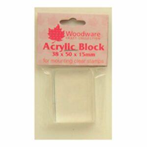 Woodware Acrylic Block Small 38x50mm WW2311
