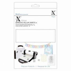 Xcut Xtra A5 Adhesive Vellum Sheets White XCU 174423