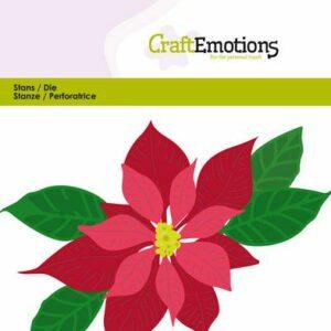 CraftEmotions Die - Kerstster / Poinsettia