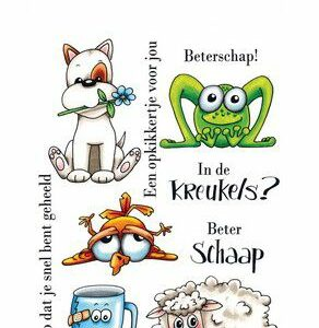 CraftEmotions Clearstamps - Beterschap 2 - Carla Creaties 130501/1510