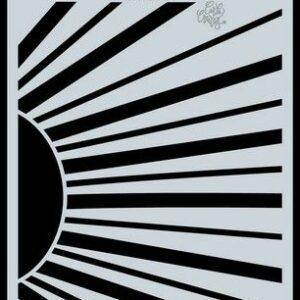 CraftEmotions Mask/Stencil Bugs & Flowers - Zonnestralen A6 Carla Creaties 185070/0145