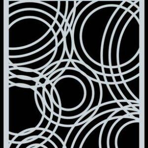CraftEmotions Mask stencil achtergrond Triple cirkels