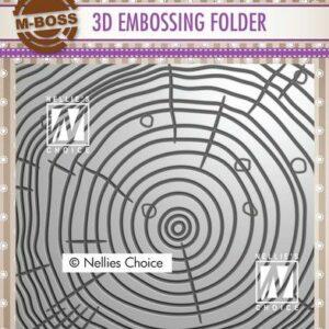 Nellies Choice 3D Emb. folder Jaarringen 3EF3D022
