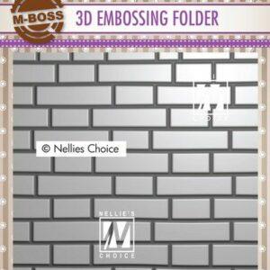 Nellies Choice 3D Emb. folder Stenenmuur 3EF3D023