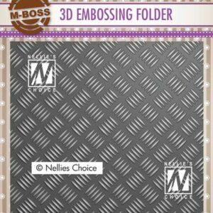 Nellies Choice 3D Emb. folder streeppatroon 1 3EF3D024