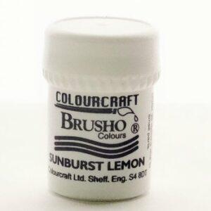 Brusho Sunburst Lemon - Small Size Colours 15g