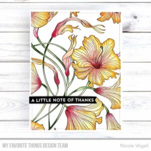 My Favorite Things Harmonious Hibiscus Background Stamp (BG-127)