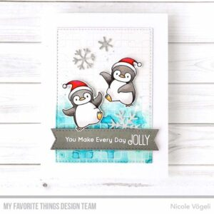 My Favorite Things Four Corners Rubber Background Stamp (BG-135)