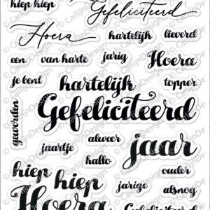 CarlijnDesign Clear Stempels Elegante Verjaardag (CDST-0042)
