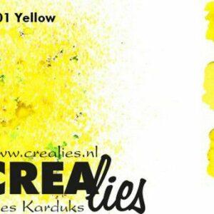 Crealies Pigment Colorzz Poeder Geel CLPC01